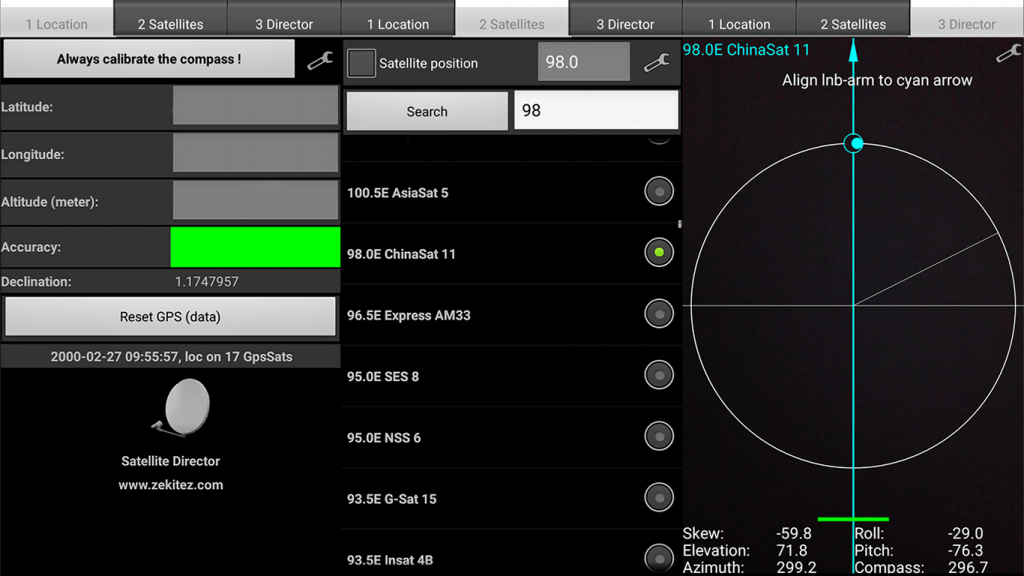 Cara tracking Ninmedia di Asiasat 9 dengan aplikasi android
