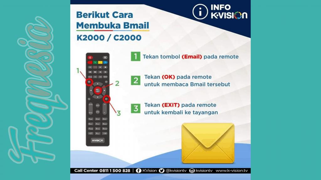 cara menghilangkan notifikasi pesan di layar televisi K-Vision
