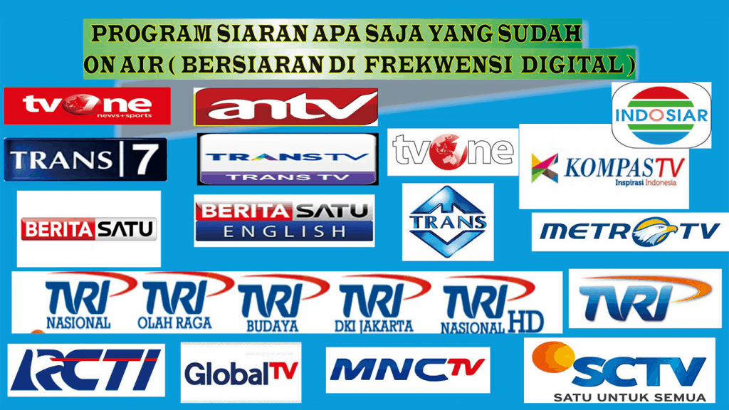 daftar channel tv digital gratis